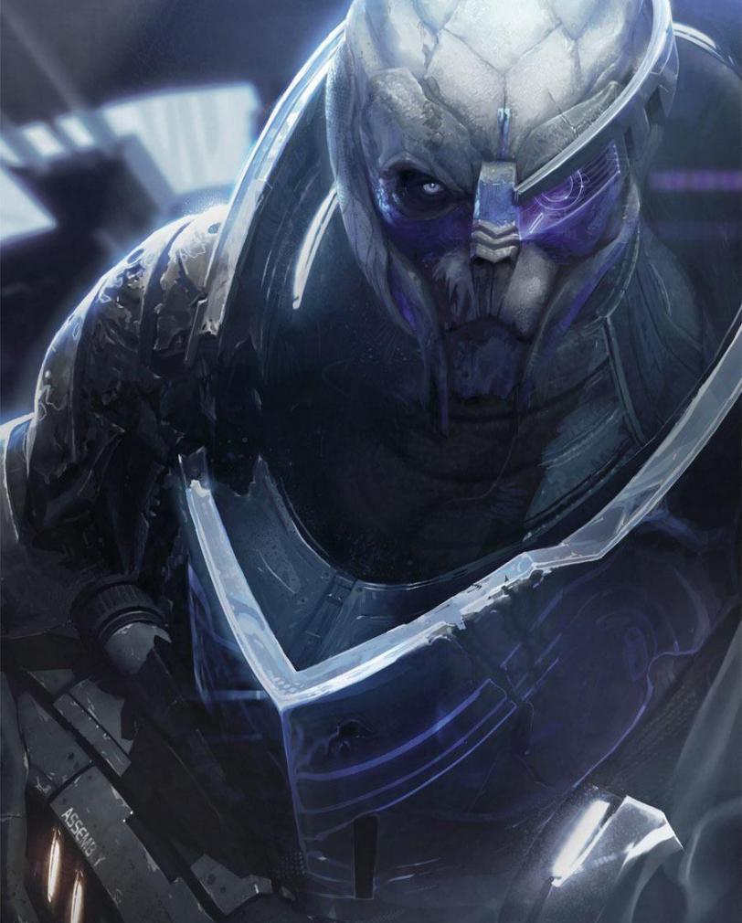 Красивые картинки Арт Mass Effect Garrus Turian