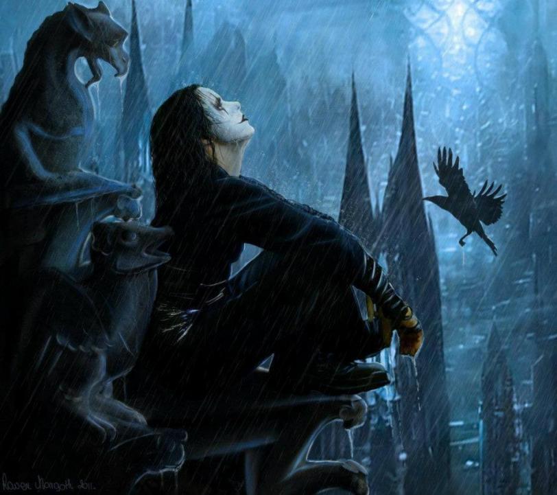 Арт Мрачные картинки Ворон Brandon Lee