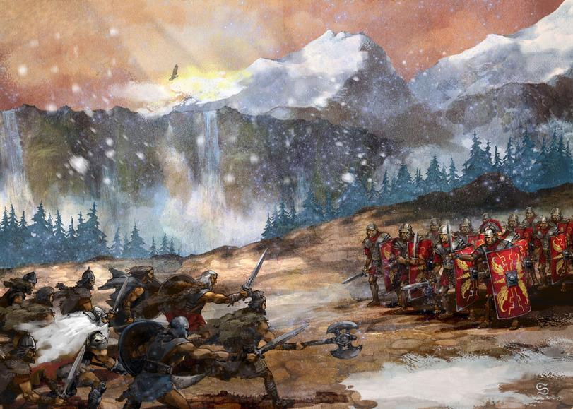 Красивые картинки Арт битва галлы римляне