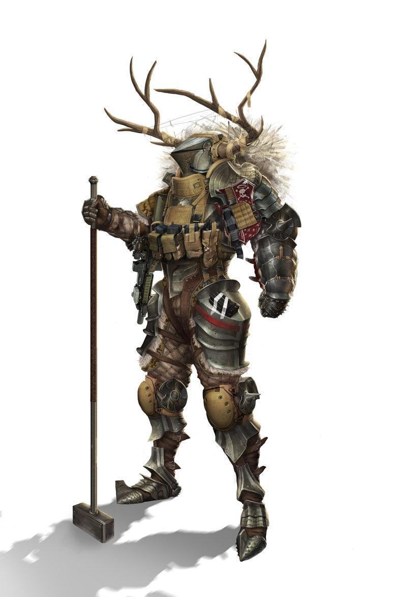 Красивые картинки Арт Sci-fi рыцарь