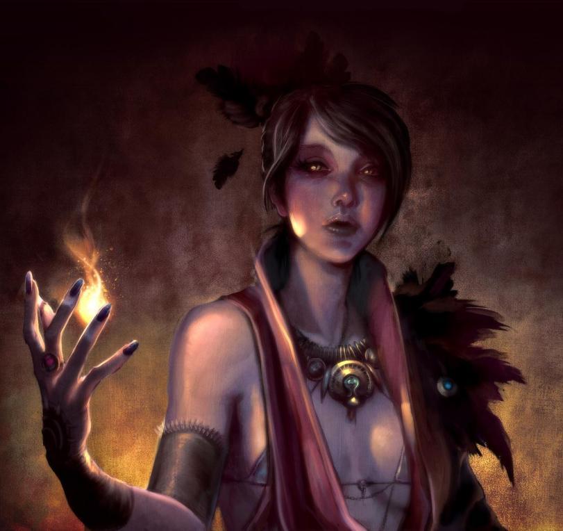 Арт Фэнтези Мрачные картинки Морриган Dragon Age