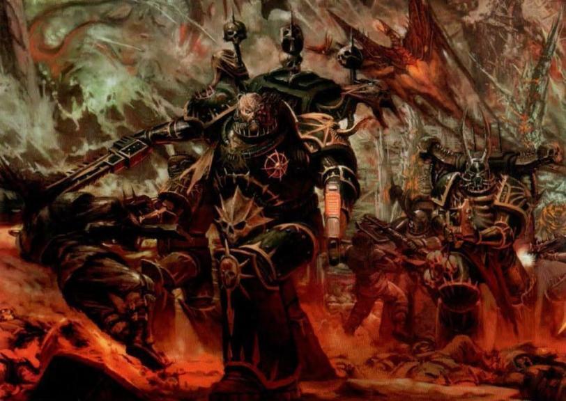 Красивые картинки Арт Warhammer 40K Chaos пафос и превозмогание Хаос