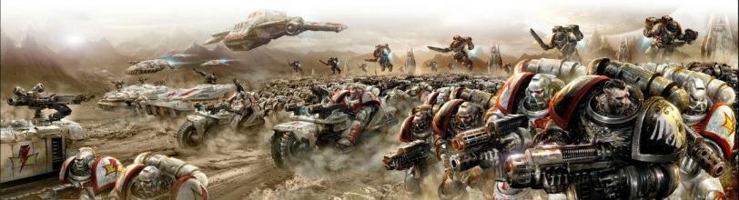 Красивые картинки Арт Warhammer 40K пафос и превозмогание Космодесант hunt for voldorius