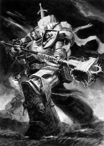Красивые картинки Арт Warhammer 40K Серые рыцари