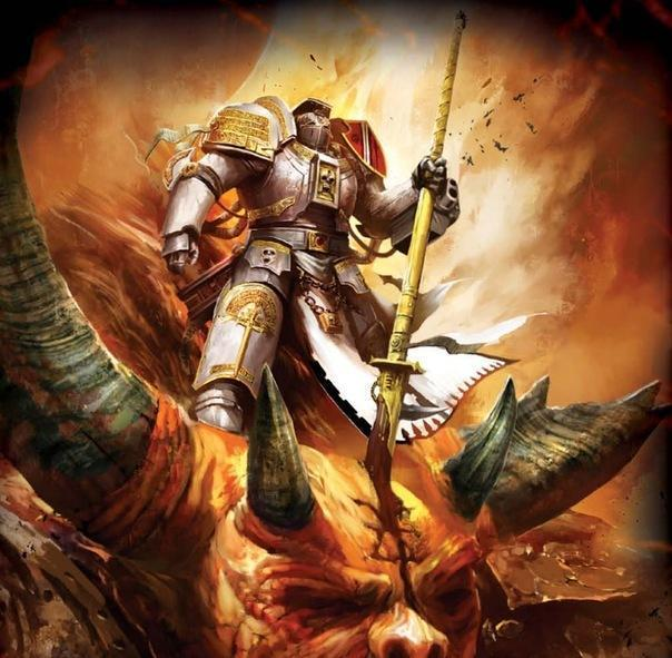 Красивые картинки Арт Warhammer 40K пафос и превозмогание Космодесант охотник на демонов