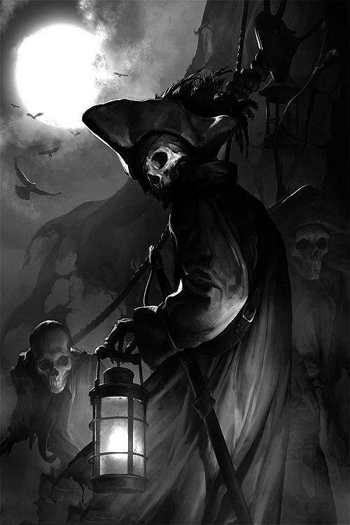Красивые картинки Арт пират скелет