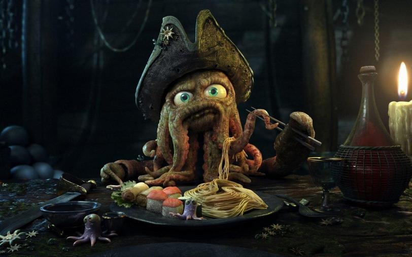 Красивые картинки Арт пират Дэйви Джонс
