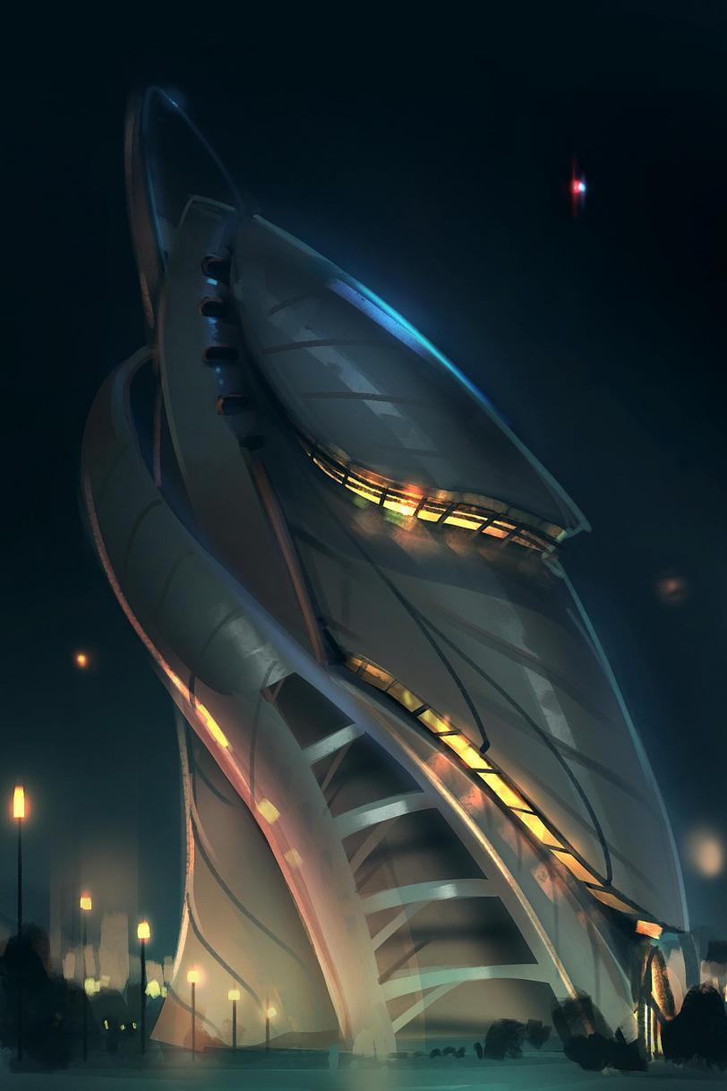 Красивые картинки Арт Sci-fi город будущего
