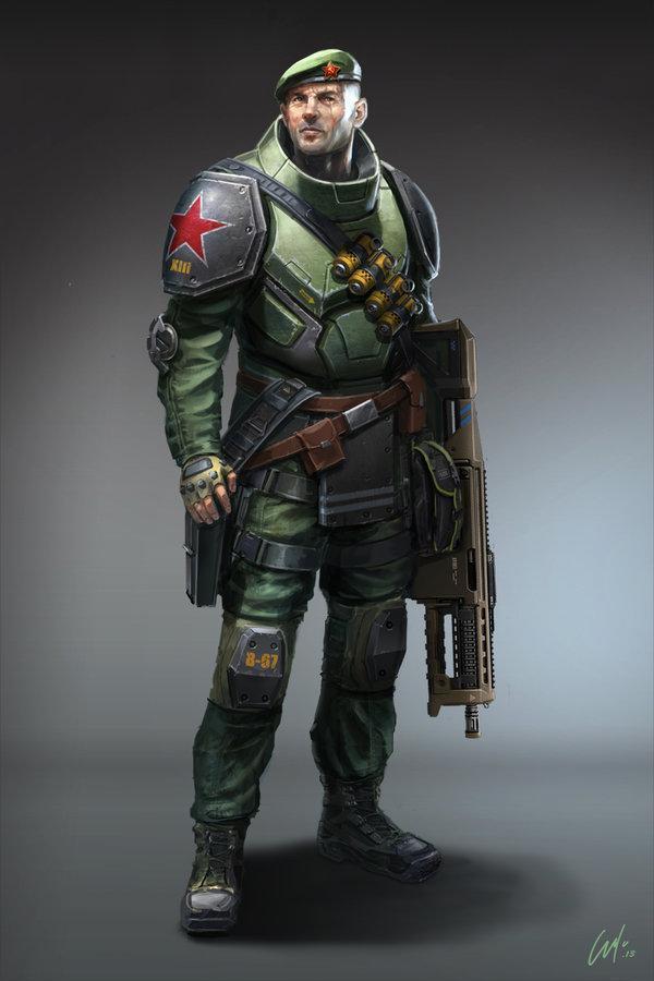 Красивые картинки Арт Sci-fi солдат