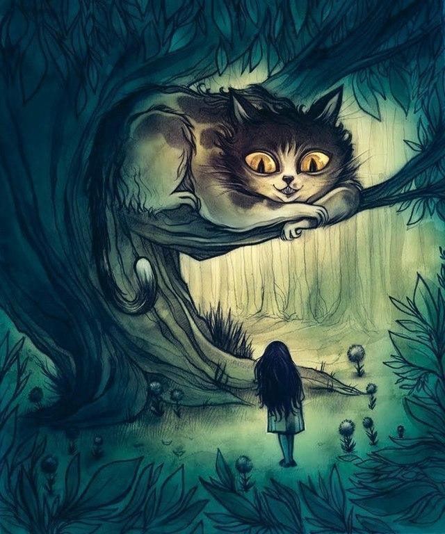 Красивые картинки Арт Алиса в Стране Чудес Чеширский Кот