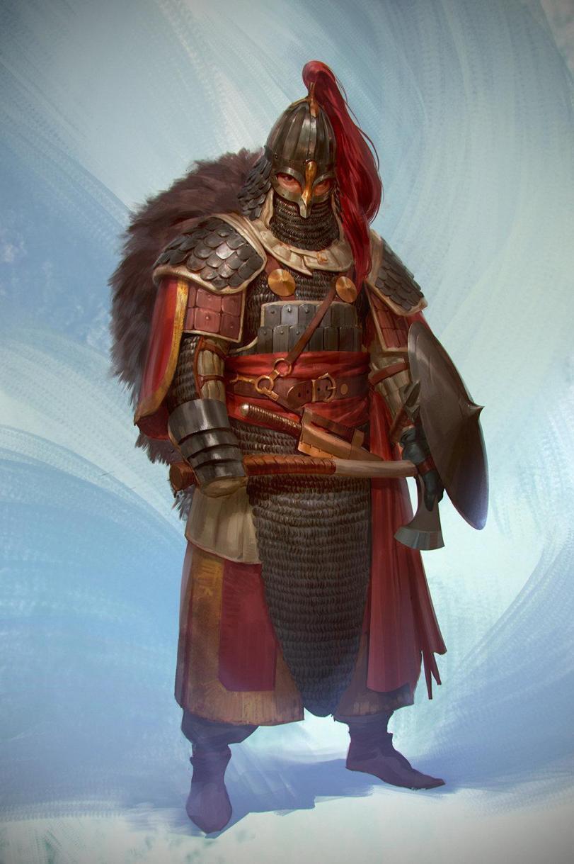 Красивые картинки Арт викинги воин