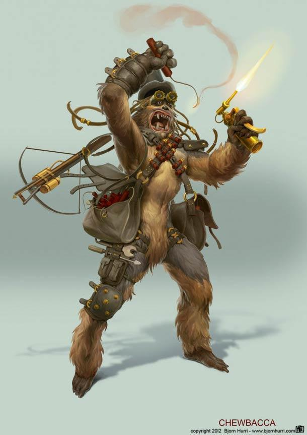 Красивые картинки Стимпанк Star Wars Bjorn Hurri
