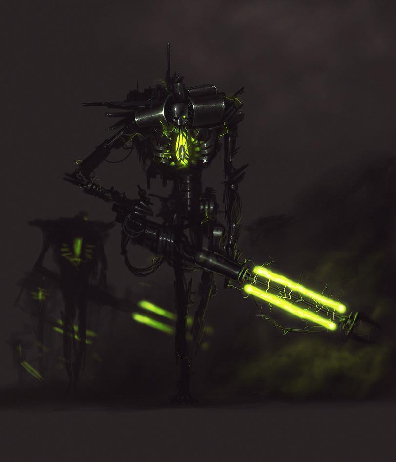 Красивые картинки Арт Warhammer 40K Necrons Некрон