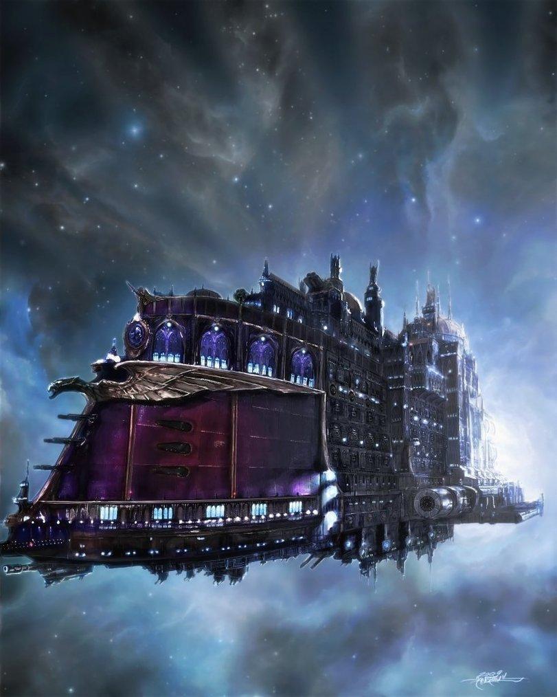 Красивые картинки Арт Warhammer 40K Боевой флот Крейсер