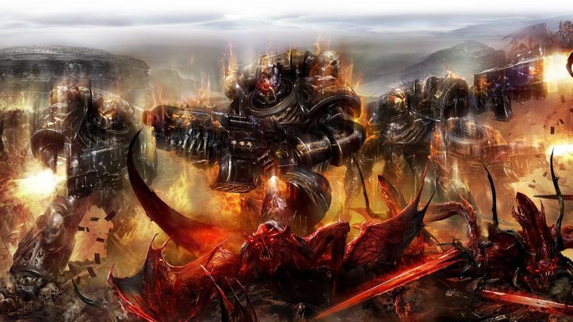 Красивые картинки Арт Warhammer 40K пафос и превозмогание Черные тамплиеры