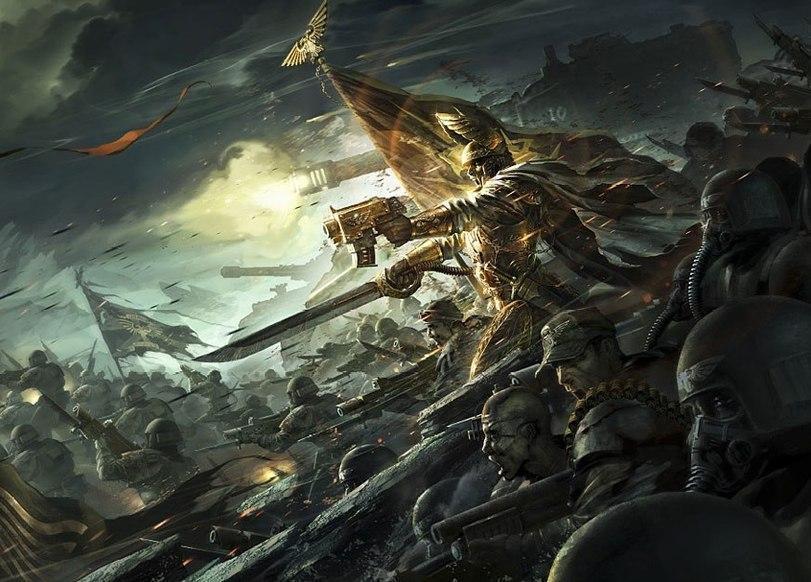Красивые картинки Арт Warhammer 40K пафос и превозмогание
