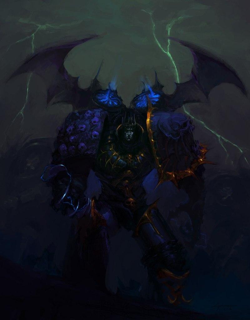 Красивые картинки Арт Warhammer 40K Конрад Кёрз Konrad Curze Примарх Ночной призрак