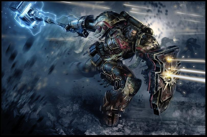 Красивые картинки Арт Warhammer 40K пафос и превозмогание Space Wolves