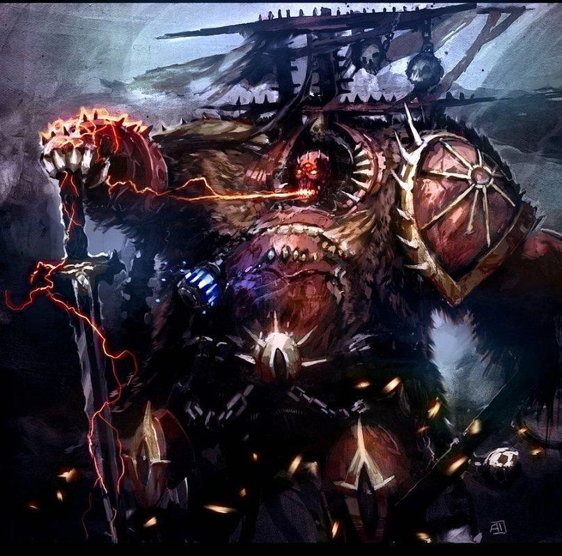 Арт Warhammer 40K Chaos chaos Lord
