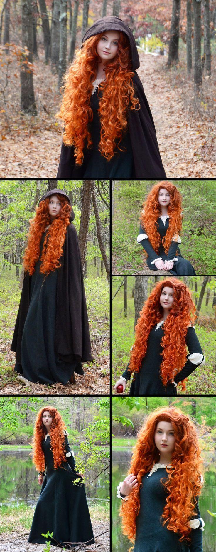 Красивые картинки Фото Девушка косплей Мерида The Brave