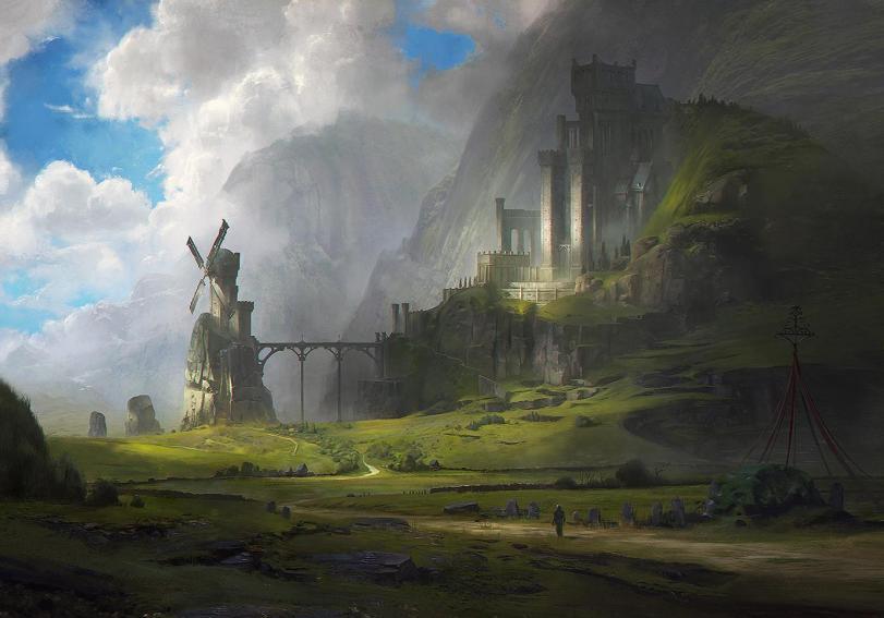 Красивые картинки Арт Фэнтези замок крепость