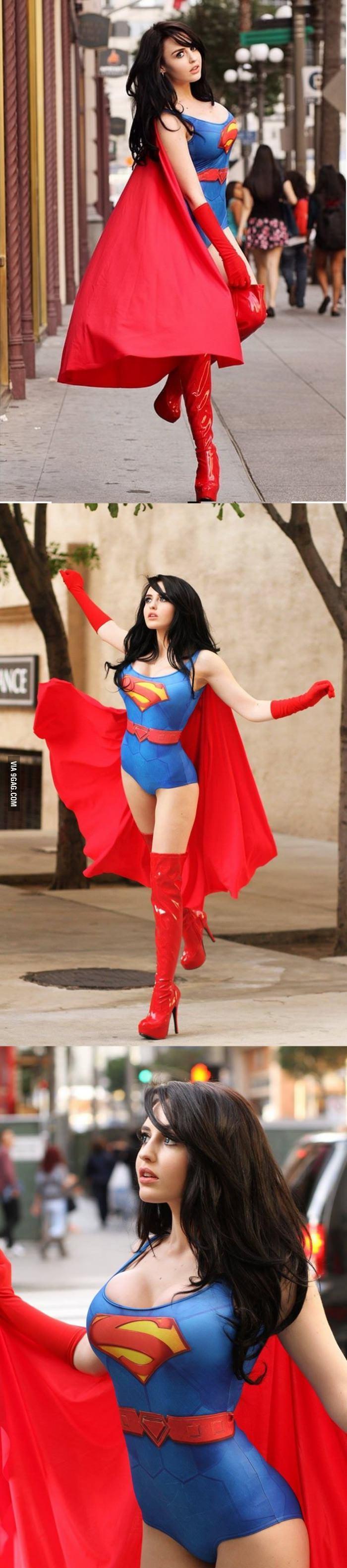 Красивые картинки Фото Девушка косплей Supergirl