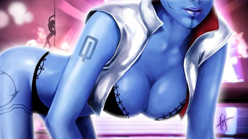 Красивые картинки Эротика Арт Mass Effect asari