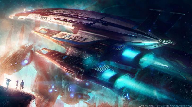 Красивые картинки Арт Sci-fi Mass Effect SSV Normandy