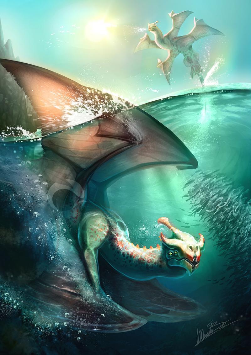 Красивые картинки Арт Фэнтези дракон