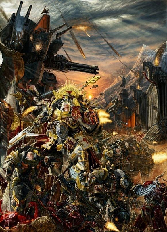 Красивые картинки Арт Warhammer 40K пафос и превозмогание Инквизиция inquisition