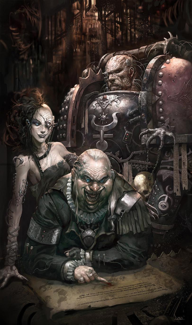 Арт Warhammer 40K Chaos Slaanesh