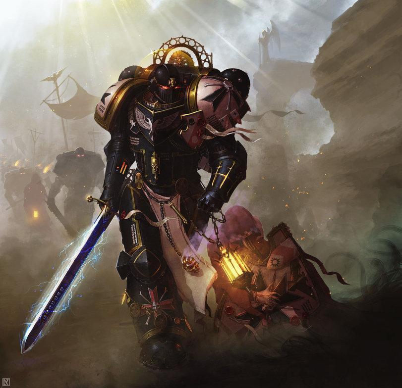 Красивые картинки Арт Warhammer 40K Черные тамплиеры