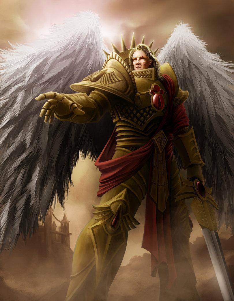 Арт Warhammer 40K пафос и превозмогание Примарх Сангвиний