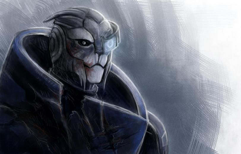 Красивые картинки Арт Sci-fi Mass Effect Garrus Turian
