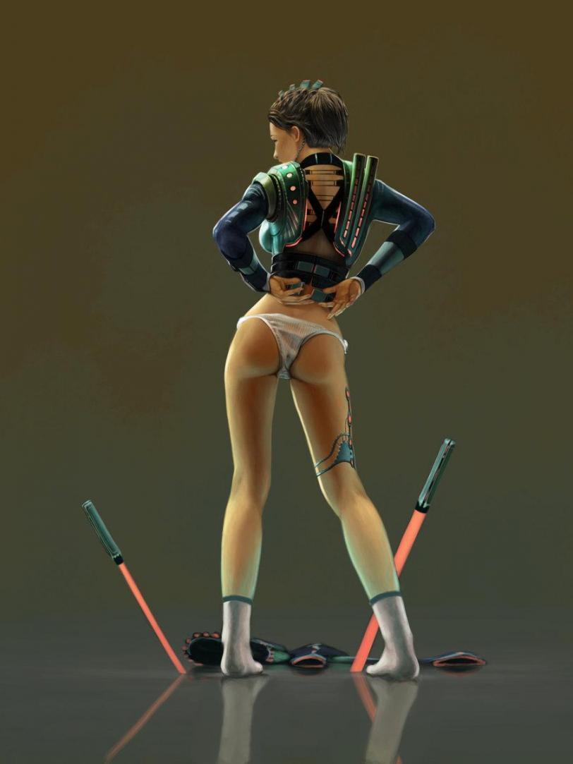 Красивые картинки Арт Sci-fi Девушка Star Wars