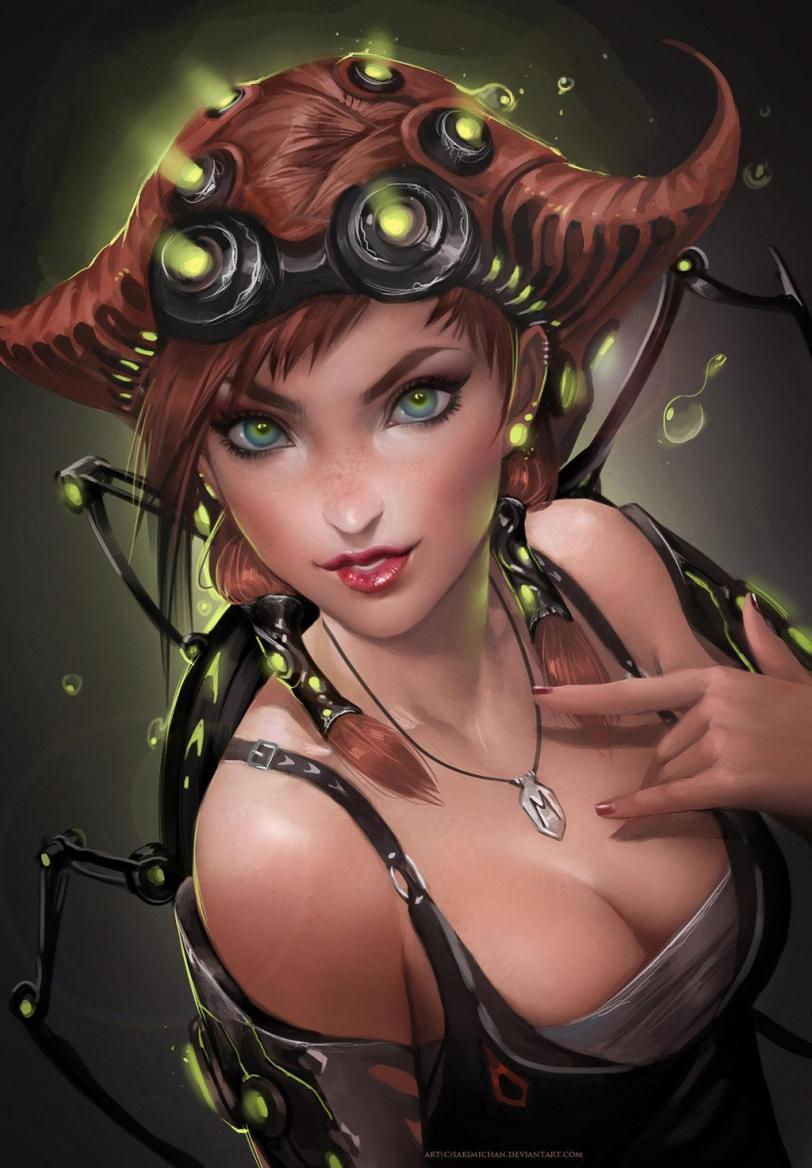 Красивые картинки Арт Sci-fi Девушка