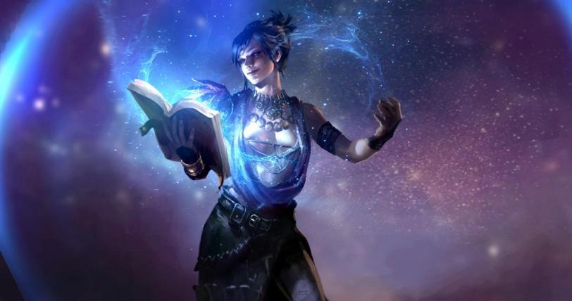 Красивые картинки Арт Девушка Фэнтези Морриган Dragon Age магия