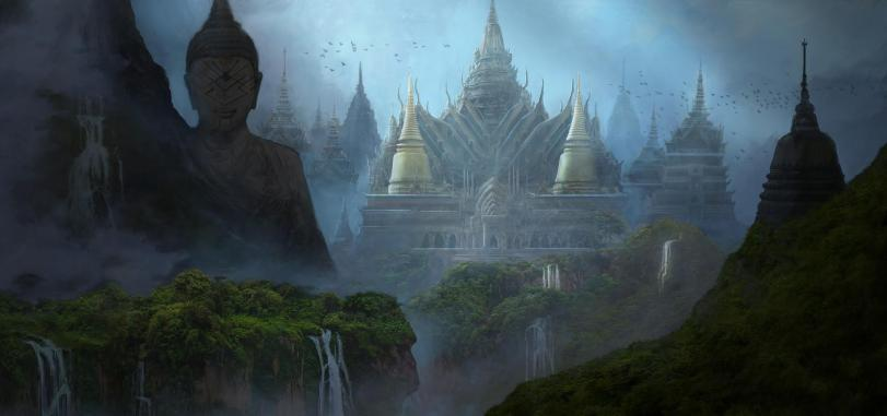 Красивые картинки Арт джунгли Храм