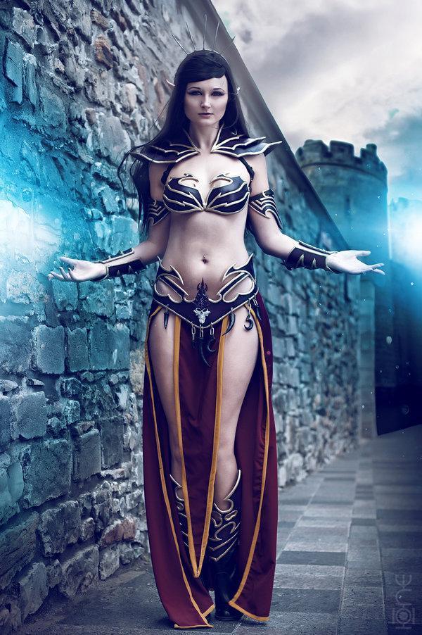 Warhammer FB Косплей Девушка Как насчет немного магии? магия Красивые картинки темные эльфы песочница