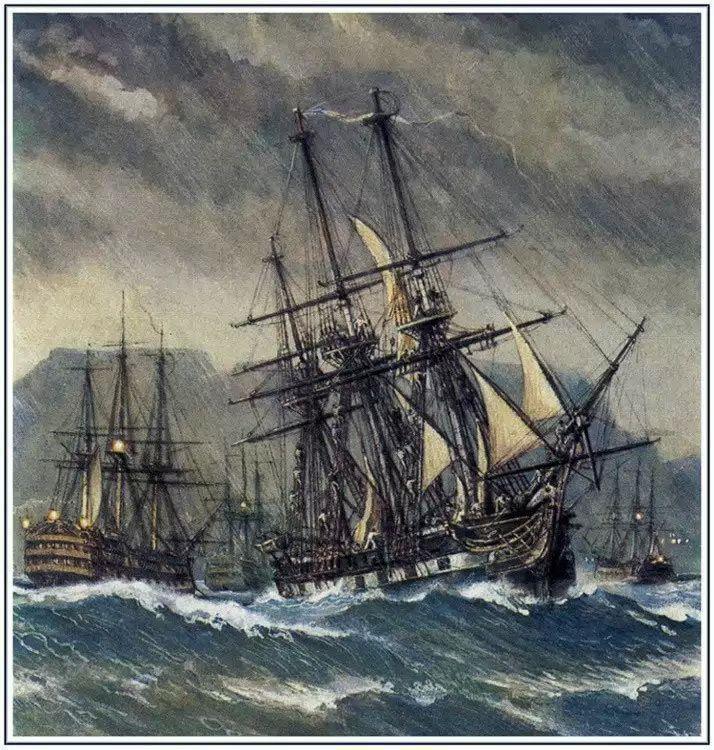 Красивые картинки Арт Живопись Корабль парусник Русский флот