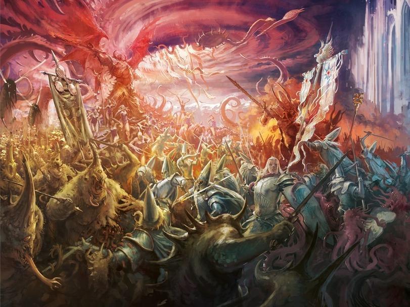 Красивые картинки Арт пафос и превозмогание Хаос Warhammer Fantasy Высшие эльфы