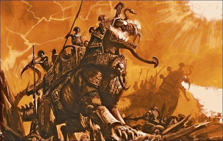 Красивые картинки Арт сфинкс Warhammer Fantasy Tomb Kings