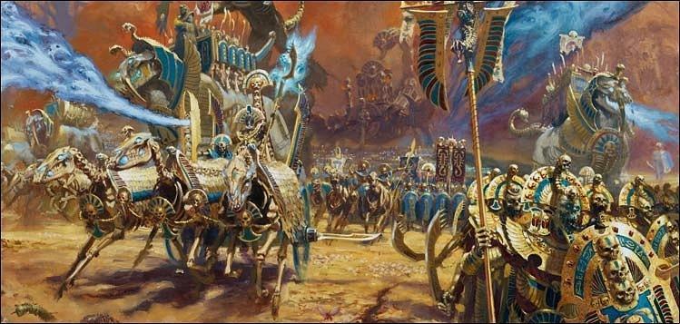 Красивые картинки Арт Warhammer Fantasy Tomb Kings Колесницы