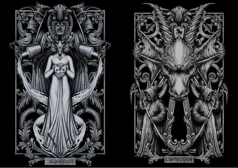 Арт Мрачные картинки гороскоп знаки зодиака