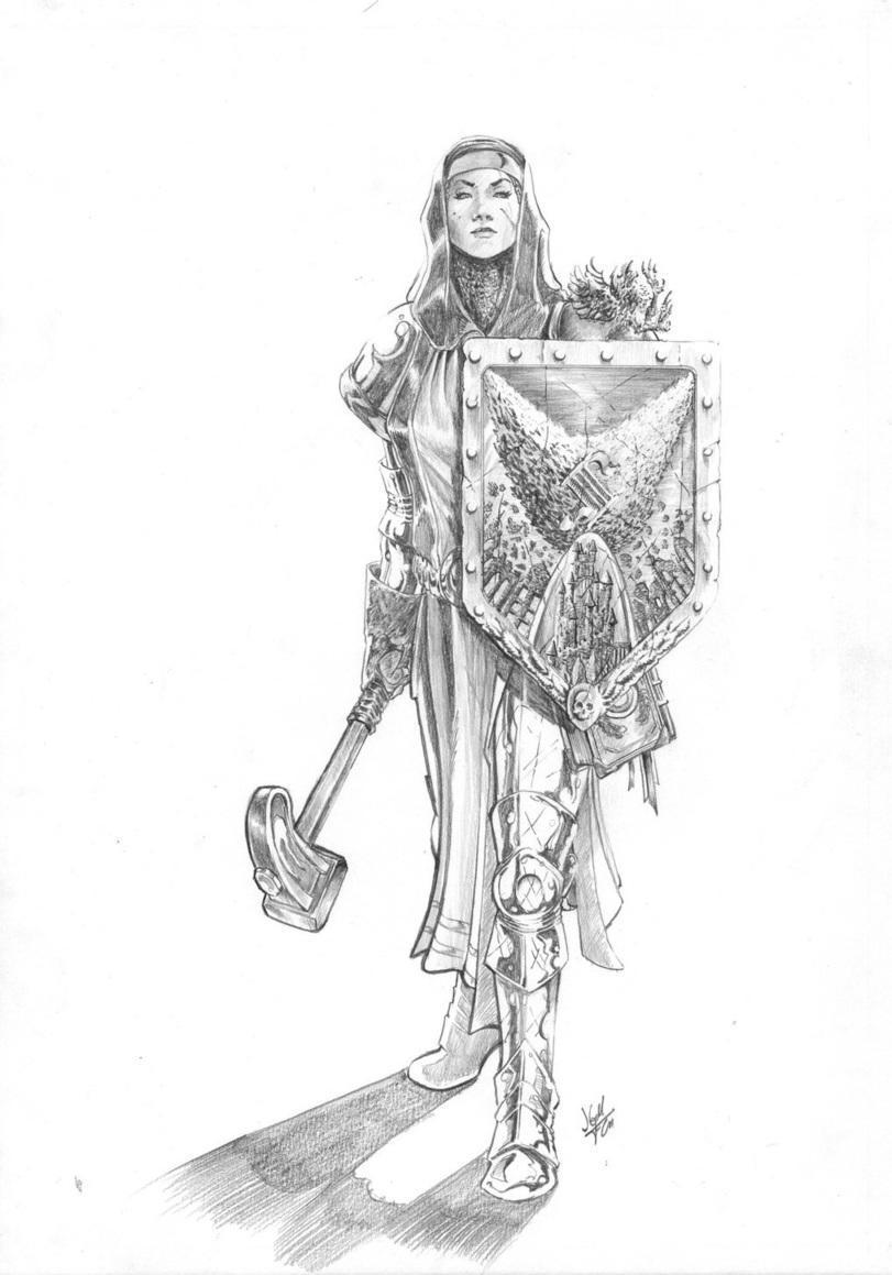 Красивые картинки Арт Девушка Warhammer Fantasy Sisters of Sigmar