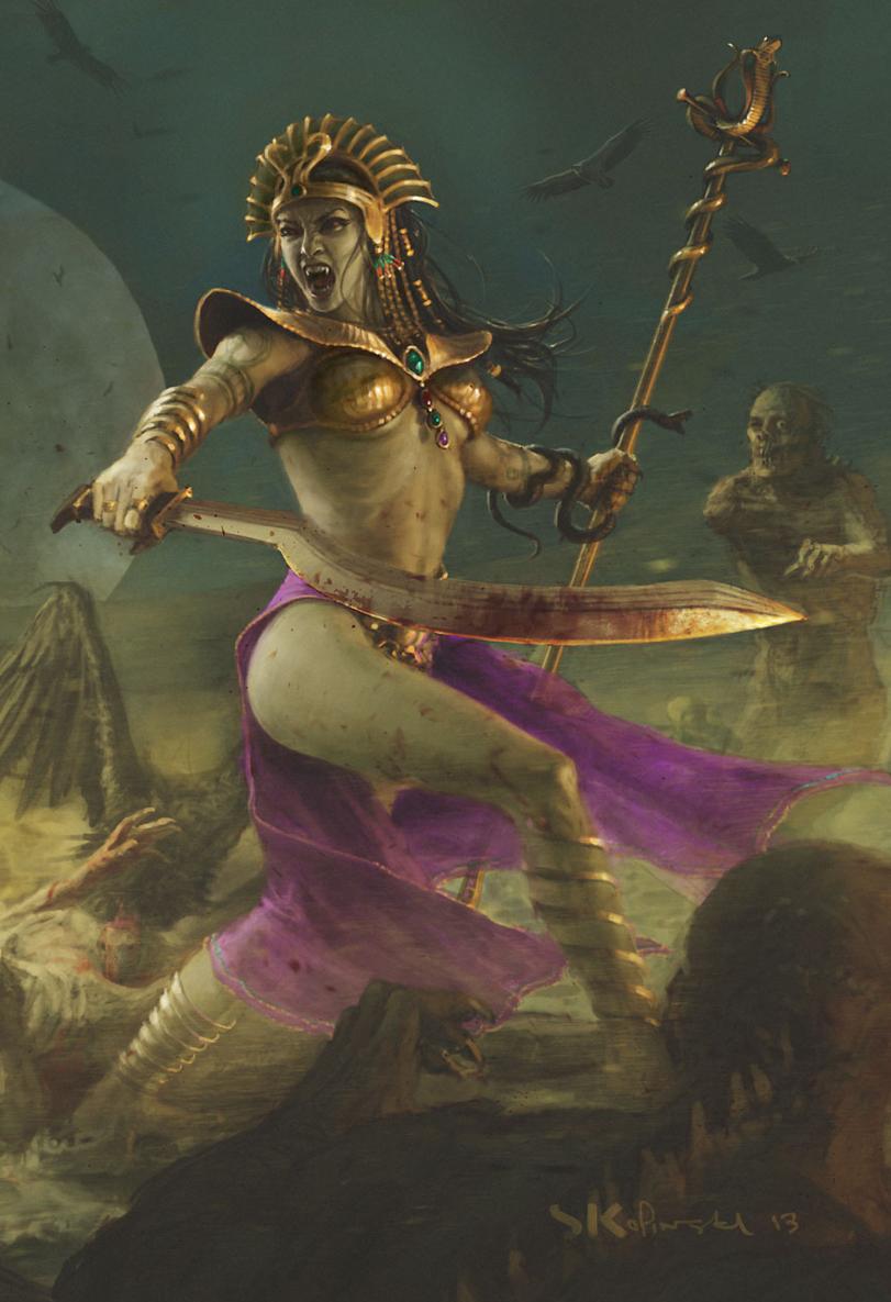 Красивые картинки Арт Warhammer Fantasy Tomb Kings Neferata Королева Проклятых