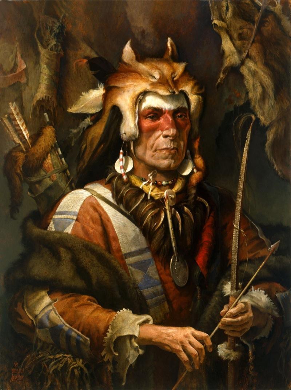 Красивые картинки Арт Живопись индейцы