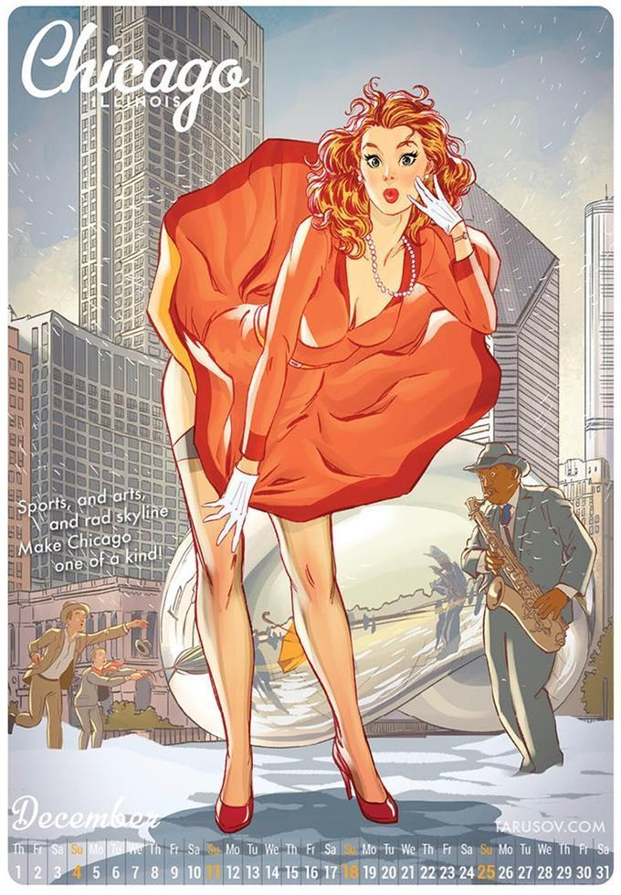 Красивые картинки Арт рисунок Девушка пинап