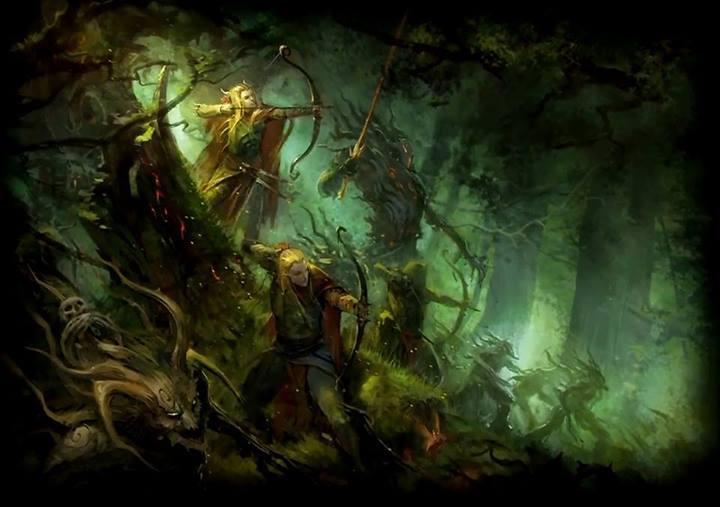 Красивые картинки Арт Warhammer Fantasy Wood Elves Лесные эльфы