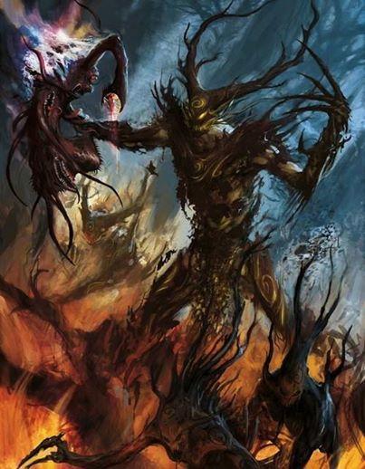 Арт Warhammer FB Wood Elves Лесные эльфы